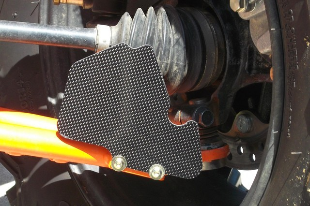 POLARIS RZR 570 / 800/ XP 900 / XP 1000 CARBON FIBER AXLE GUARDS